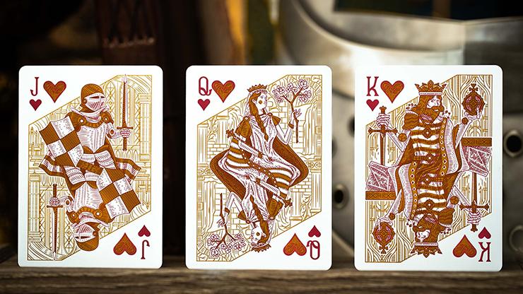 Riffle shuffle deck court cards