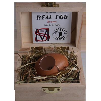Real Egg (Brown) by Gianfranco Ermini & Stratomagic - Trick
