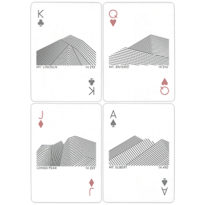Peak Playing Cards (Day) by USPCC MagicWorld Magic Shop