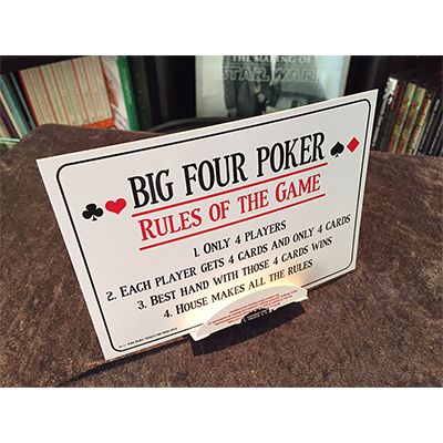 Big Four Poker (DVD and Gimmick) by Tom Dobrowolski and Big Blind Media - DVD