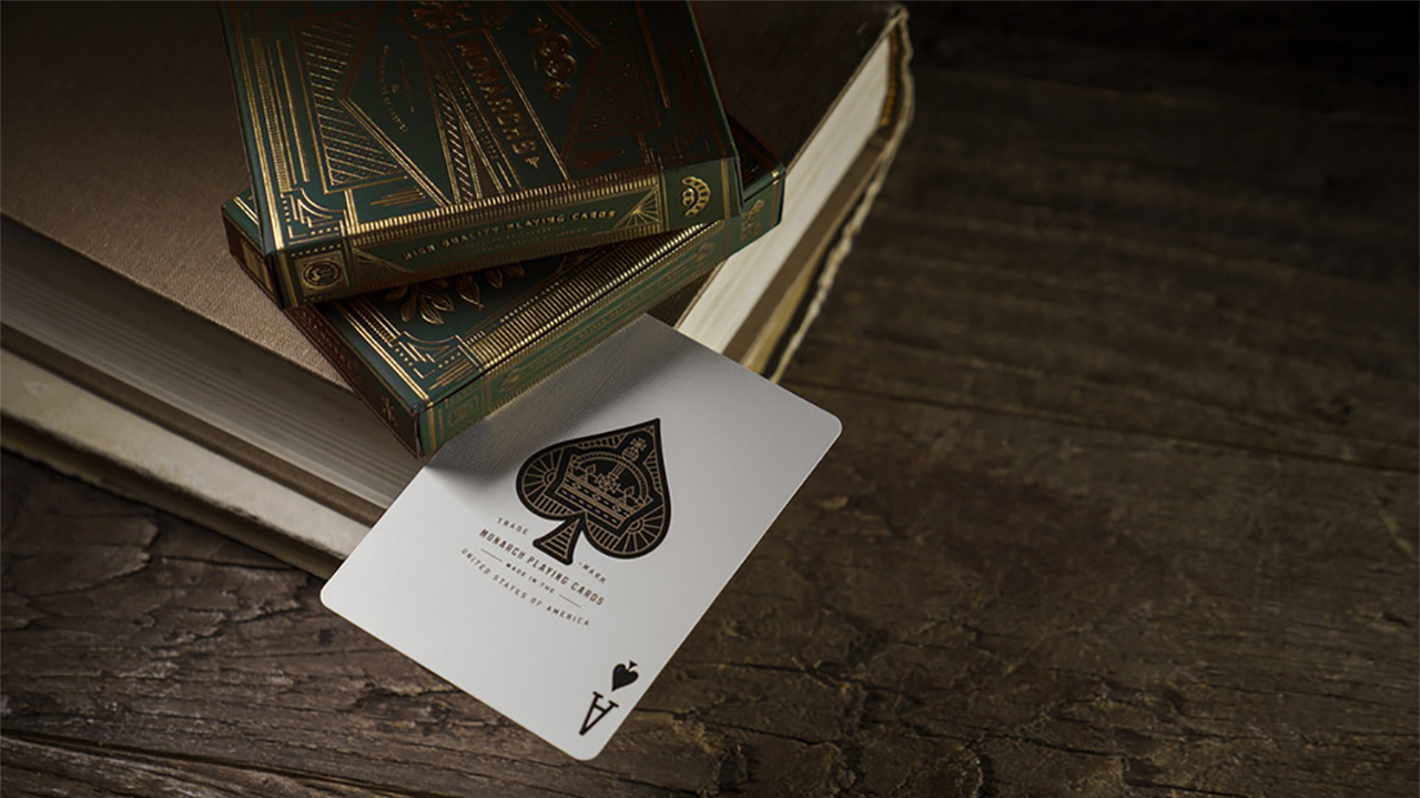 Monarch Playing Cards (Green) by... MagicWorld Magic Shop