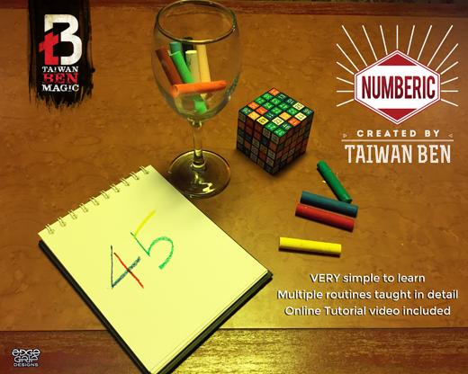 Numberic by Taiwan Ben - Trick MagicWorld Magic Shop