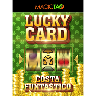 Lucky Card Blue (Gimmick and Online... MagicWorld Magic Shop
