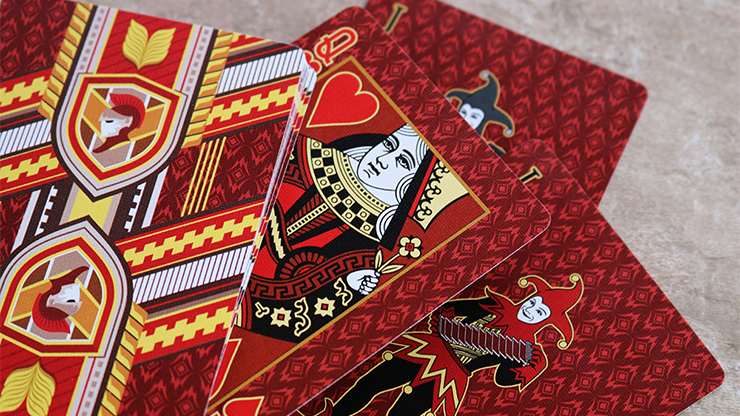 Bicycle Red Castle Playing Cards... MagicWorld Magic Shop
