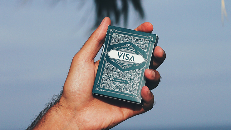 Visa Blue Playing Cards by Patrick... MagicWorld Magic Shop