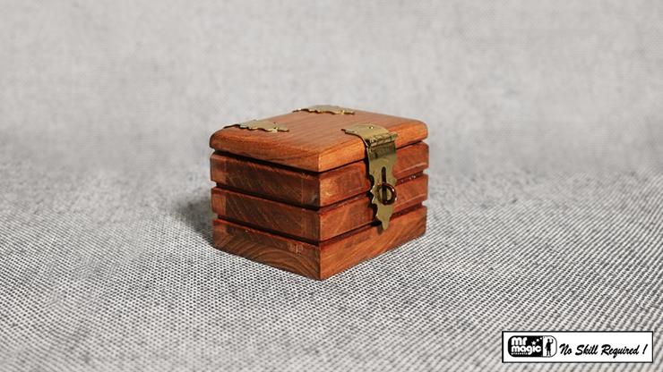 Quarter Go Box (Teak) by Mr. Magic... MagicWorld Magic Shop