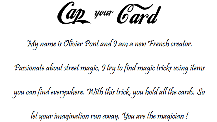 Cap your Card by Olivier Pont -... MagicWorld Magic Shop