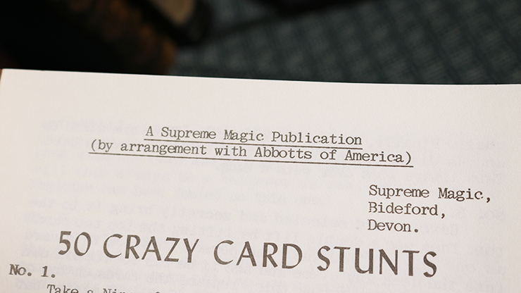 50 Crazy Card Stunts by U.F. Grant... MagicWorld Magic Shop