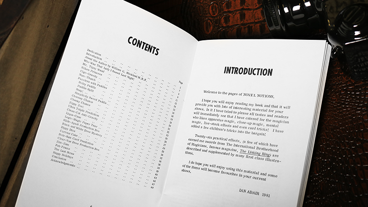 Novel Notions by Ian Adair - Book MagicWorld Magic Shop