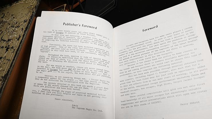 Escapes by Percy Abbott - Book MagicWorld Magic Shop