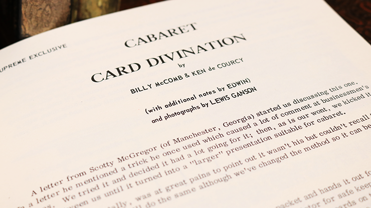 Cabaret Card Divination by Billy... MagicWorld Magic Shop