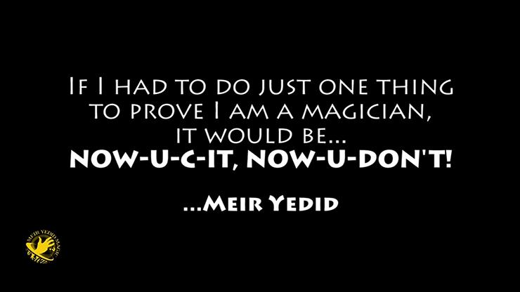 Special Edition NOW-U-C-IT, NOW-U-DON'T... MagicWorld Magic Shop
