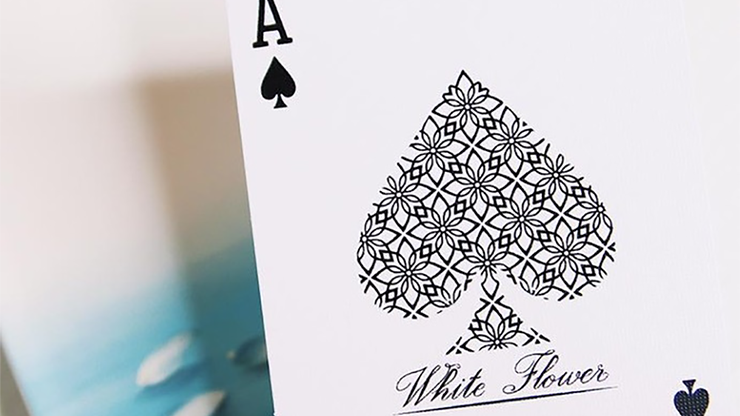 White Flower Playing Cards MagicWorld Magic Shop