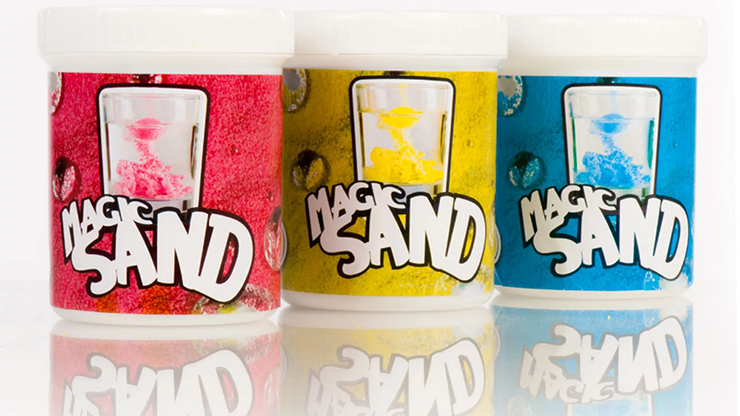 Magic Sand 8 oz (YELLOW) MagicWorld Magic Shop