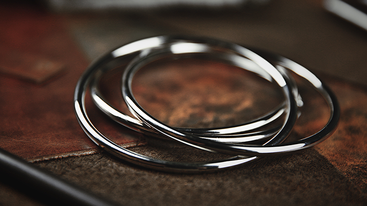 "4"" Linking Rings (Chrome) by TCC... MagicWorld Magic Shop"