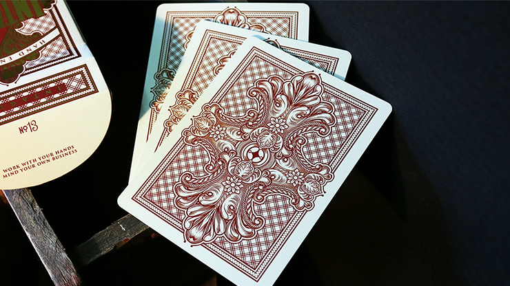 Intaglio Red Playing Cards by Jackson... MagicWorld Magic Shop