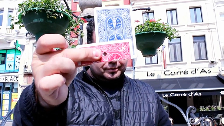 CRAZY HOLE Blue (Gimmick and Online Instructions) by Mickael Chatelain - Trick