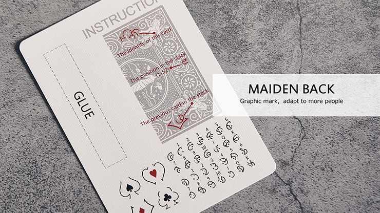 Bicycle Maiden Marked Playing Cards... MagicWorld Magic Shop