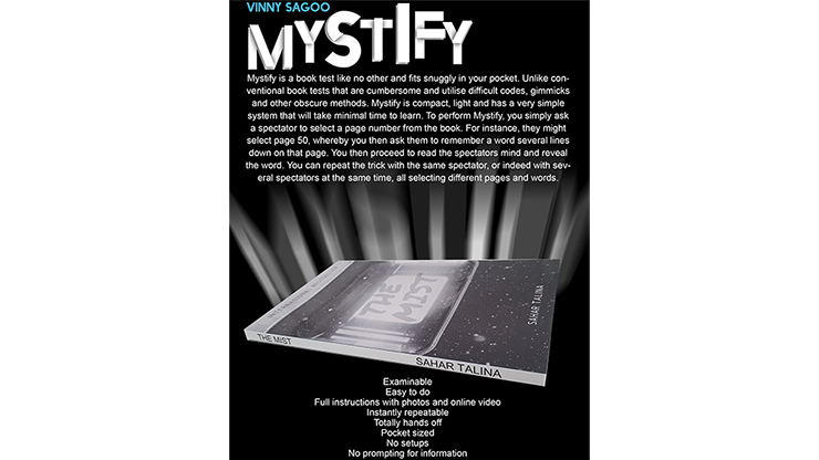 Mystify Booketest by Vinny Sagoo Magic Trick